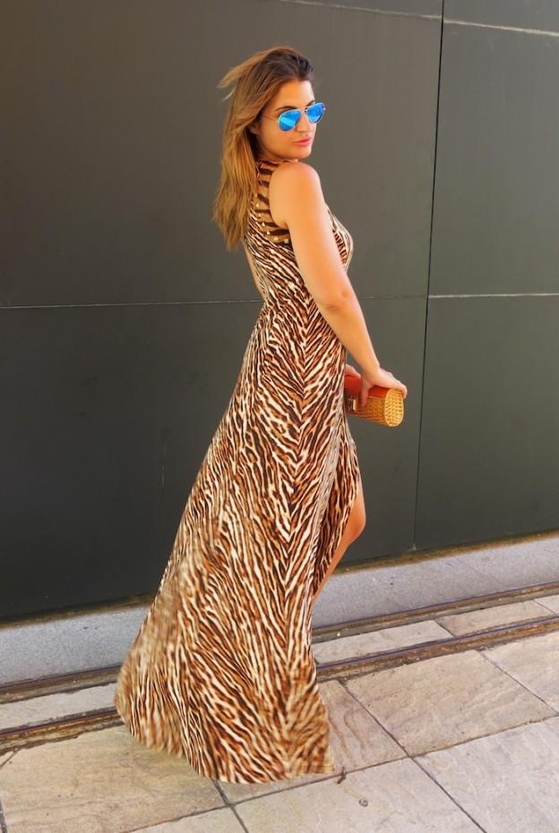 michael kors long dress leopard Amaras la moda