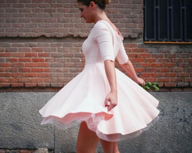 La Redoute pink dress tul amaras la moda ted Baker peeptoes 4