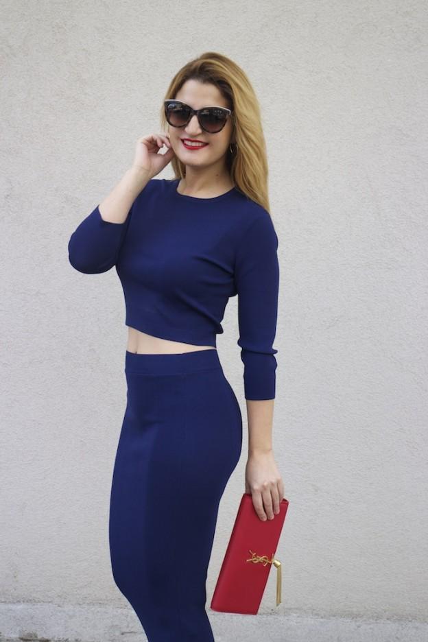 etxart and panno top and skirt Yves saint laurent bag amaras la moda Paula Fraile Fashion blogger