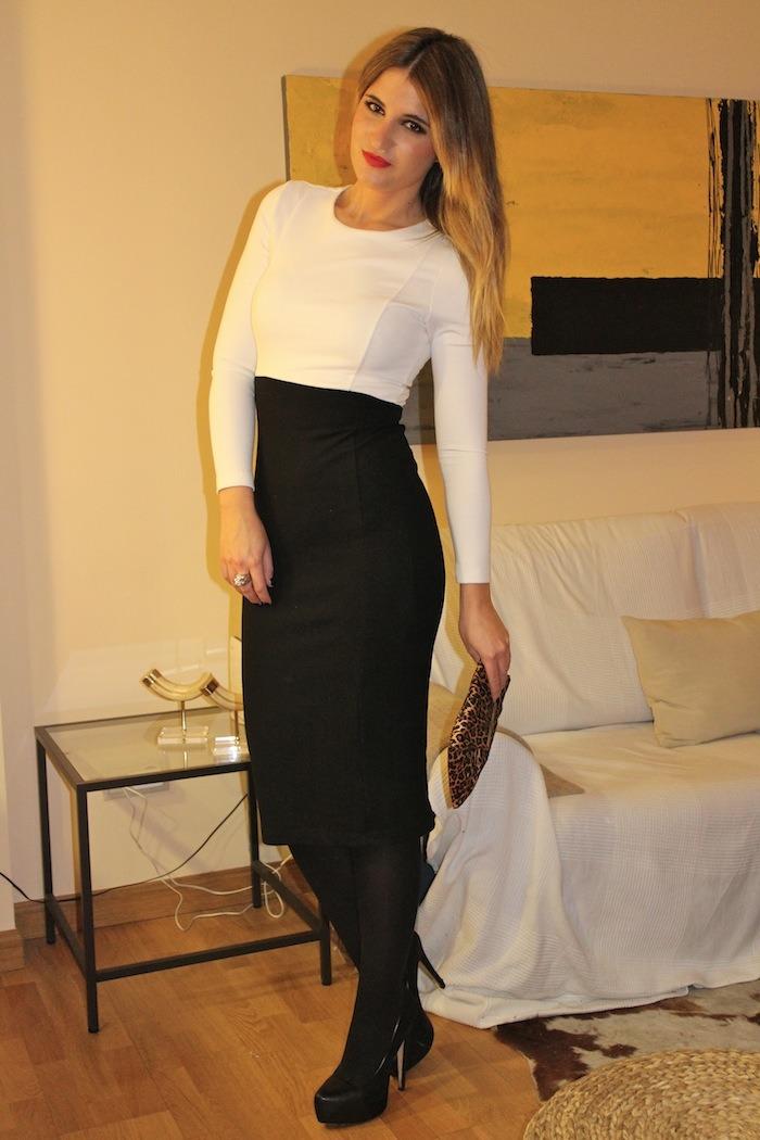 black white dress amaras la moda