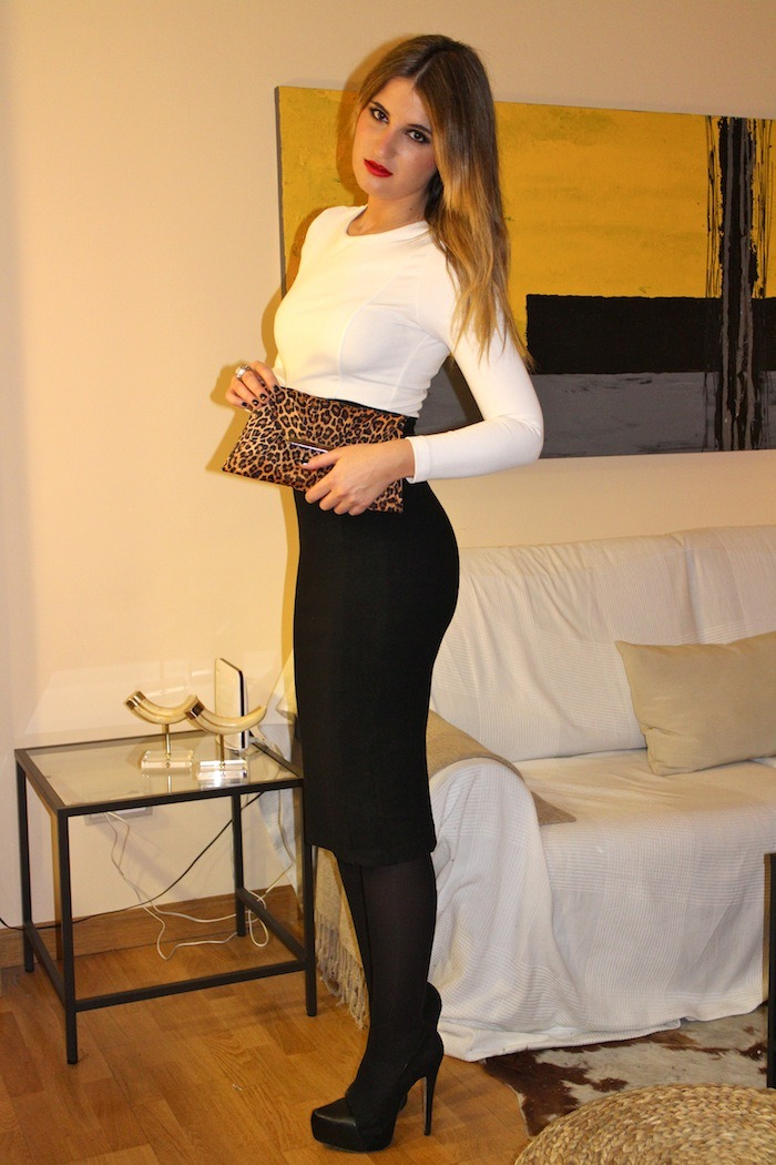black white dress amaras la moda2