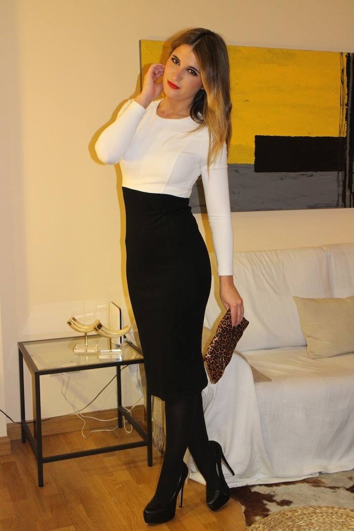 black white dress amaras la moda3