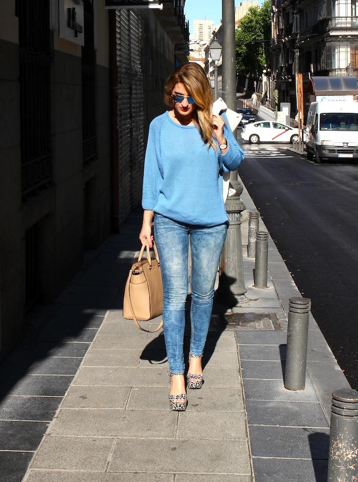 amaras la moda blue sweater venca wedges primark 2