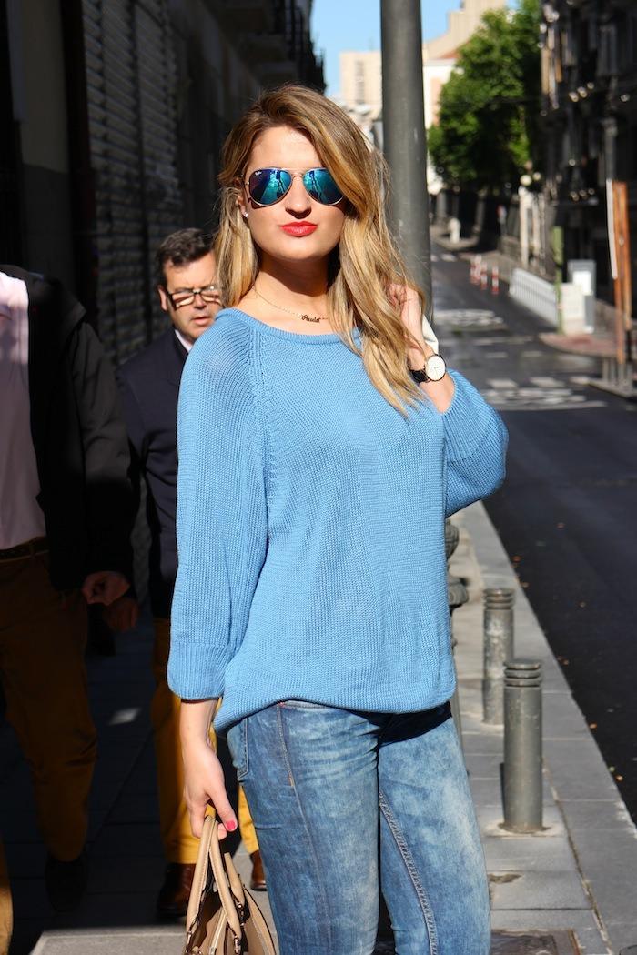 amaras la moda blue sweater venca wedges primark 3