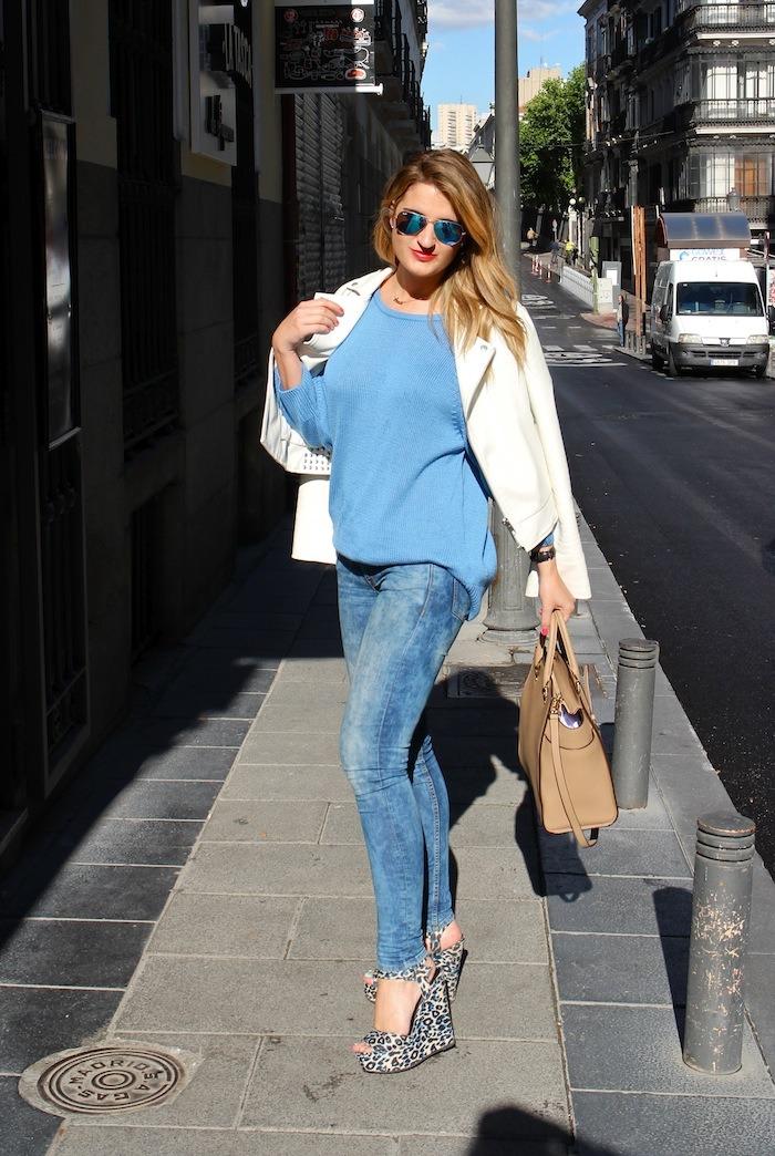 amaras la moda blue sweater venca wedges primark 4