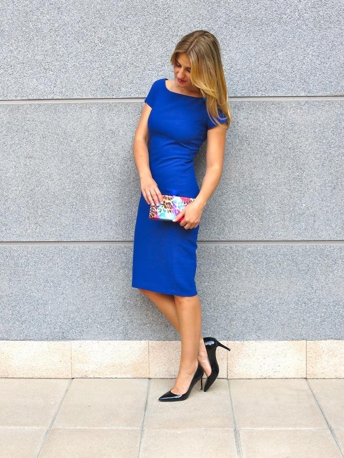 blue dress amaras la moda  chic sympathique clutch 3