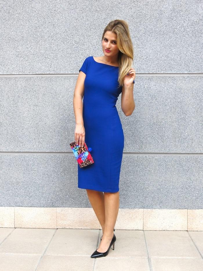 blue dress amaras la moda  chic sympathique clutch 5