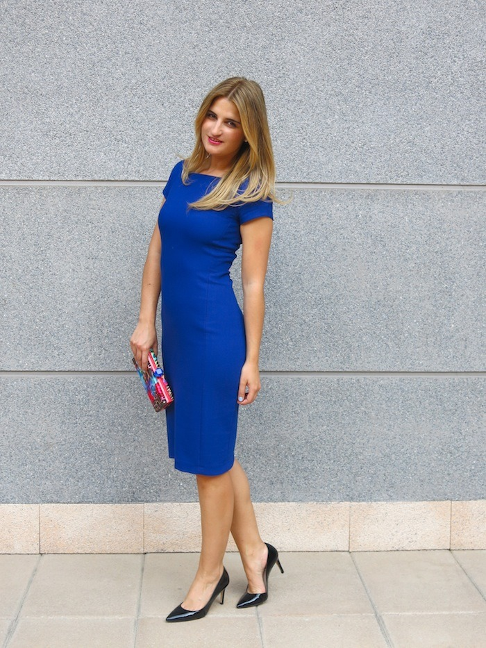 blue dress amaras la moda  chic sympathique clutch 7