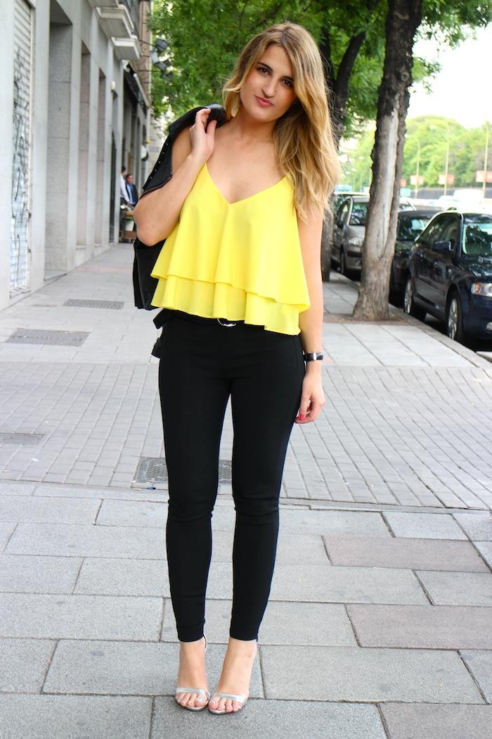 top amarillo zara silver sandals amaras la moda 4