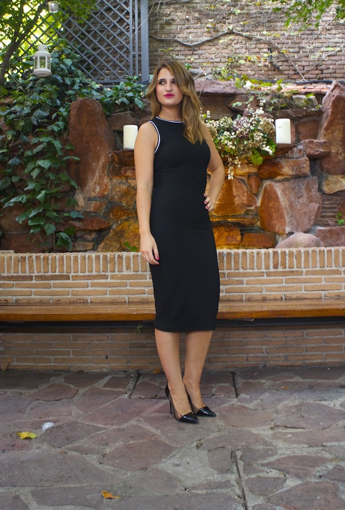 zara dress black amaras la moda 2