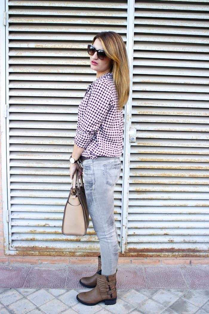 camisa cuadros zara botas mustang dolce and gabanna jeans michael kors bag amaras la moda 6