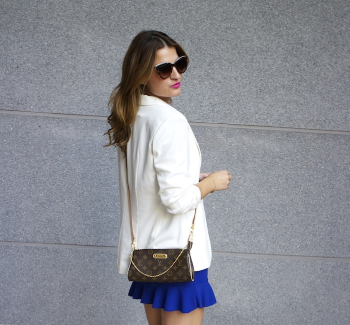 fashion pills dress blue blazer h&m chloe borel shoes pochette eva louis vuitton amaras la moda 4