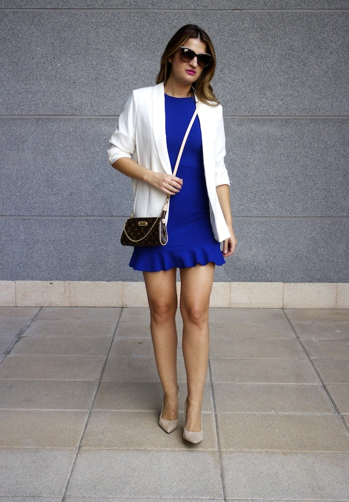 fashion pills dress blue blazer h&m chloe borel shoes pochette eva louis vuitton amaras la moda 7