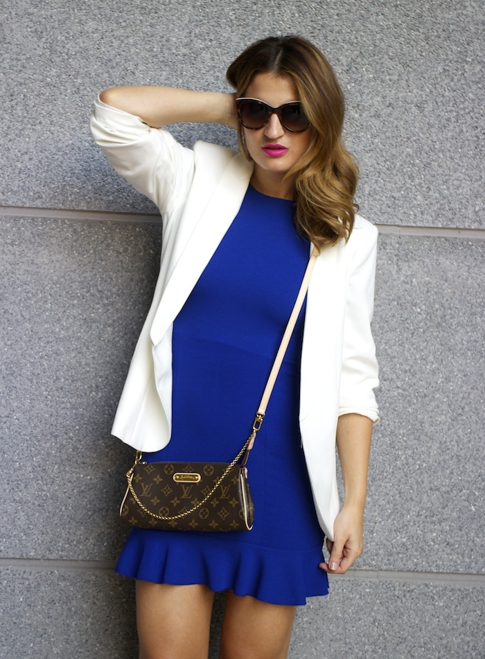 fashion pills dress blue blazer h&m chloe borel shoes pochette eva louis vuitton amaras la moda 8