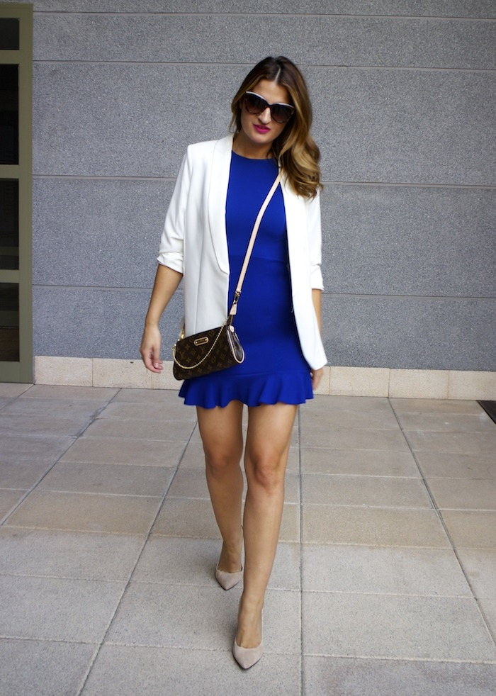 fashion pills dress blue blazer h&m chloe borel shoes pochette eva louis vuitton amaras la moda