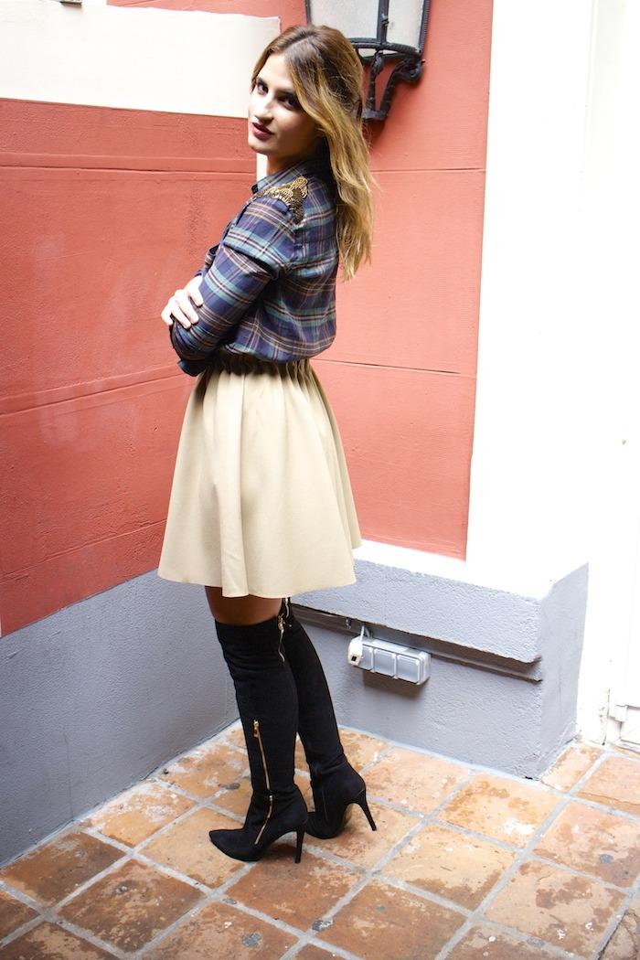 la redoute shirt zara skirt pilar burgos boots cazamariposas  6