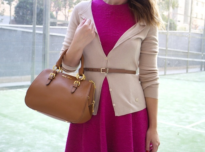 miu miu bag jimmy choo shoes zara pink dress carolina herrera cardigan dolce and gabanna belt amaras la moda. 6