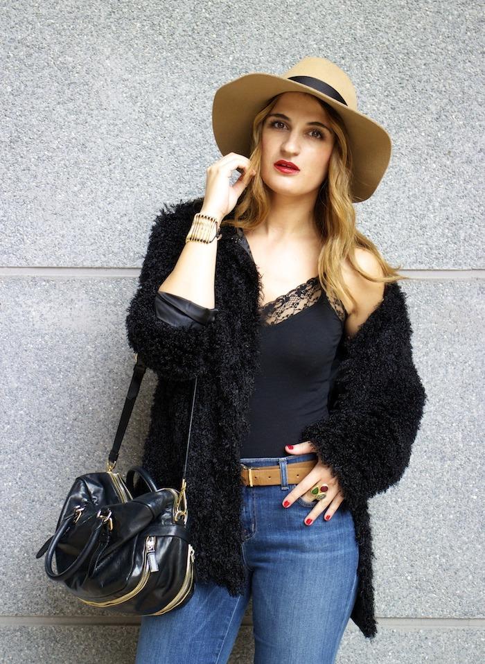 70s look venca coat j brand jeans prada bag zara boots amaras la moda 2