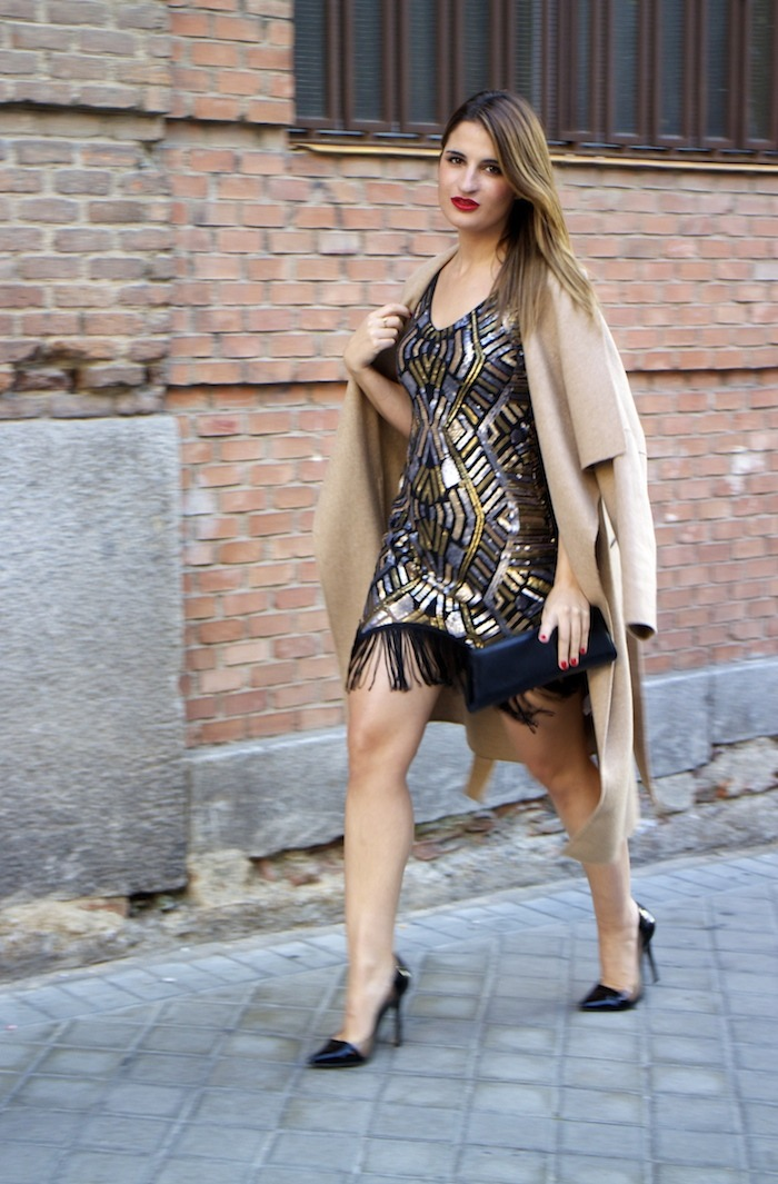 fashion pill dress paillettes amaras la moda zara coat stilettos chloe borel 2