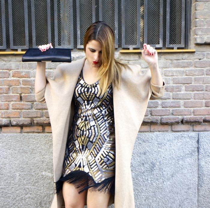 fashion pill dress paillettes amaras la moda zara coat stilettos chloe borel 3