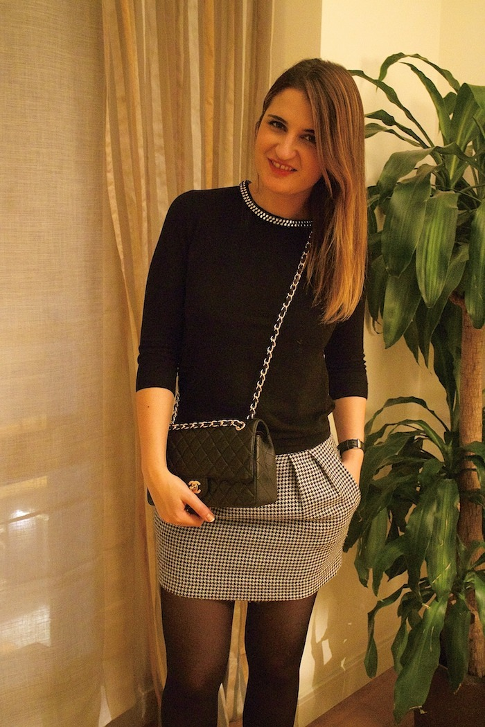 zara sweater chanel bag amaras la moda 4