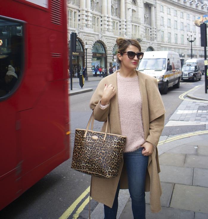 London camel coat Zara coach bag leopard Clarks shoes 4