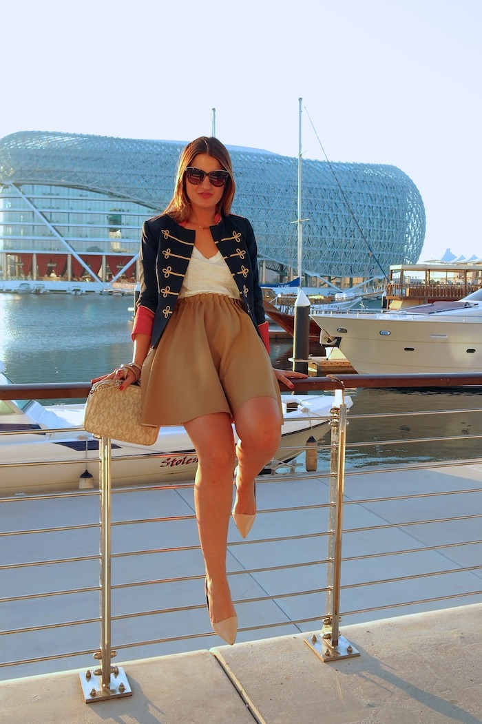 Yas Marina Abu Dhabi amarás la moda my schneider madrid jacket save the king michael kors bag 3