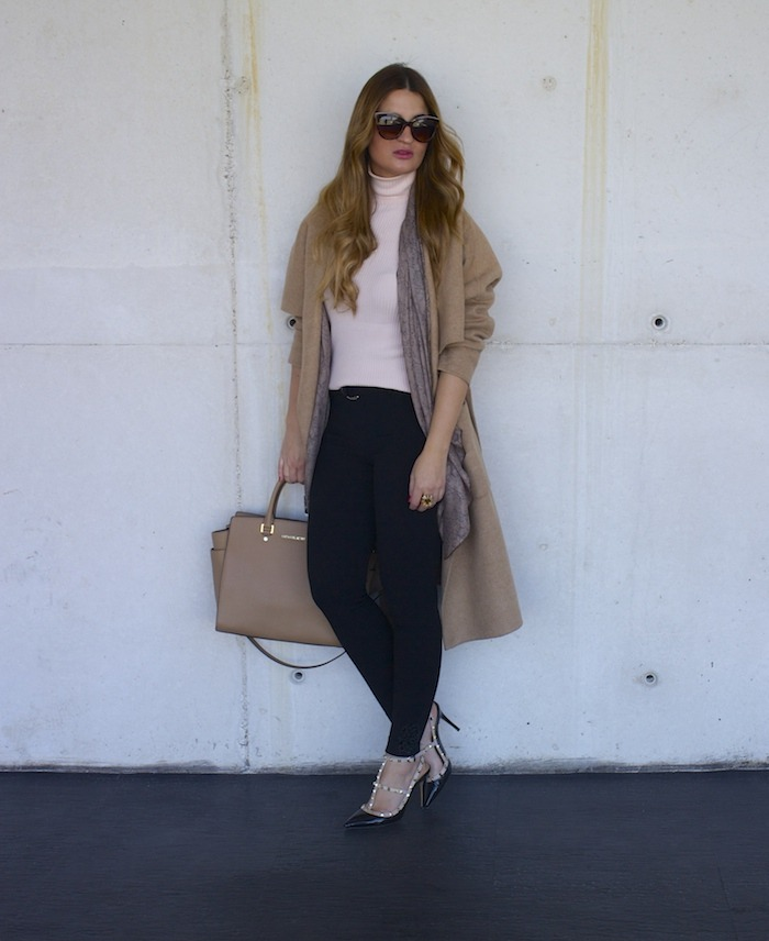 valentino shoes michael kors bag zara coat amaras la moda 7