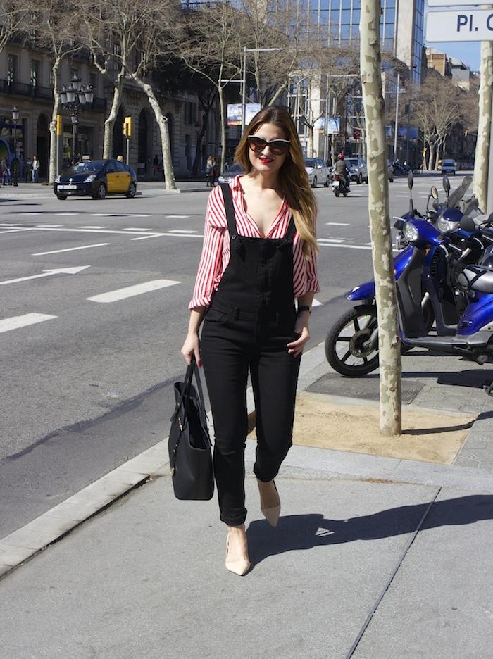 peto camisa rayas zara michael kors bag barcelona amaras la moda 8