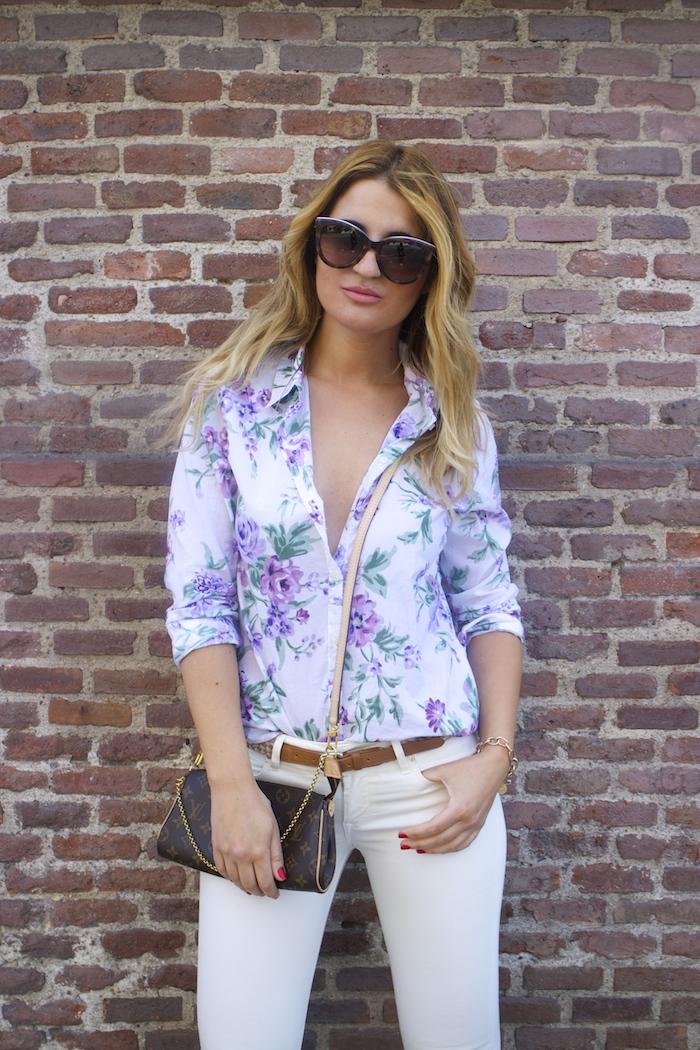 benetton flower shirt salsa jeans La redoute belt pochette eva louis vuitton amaras la moda. 7