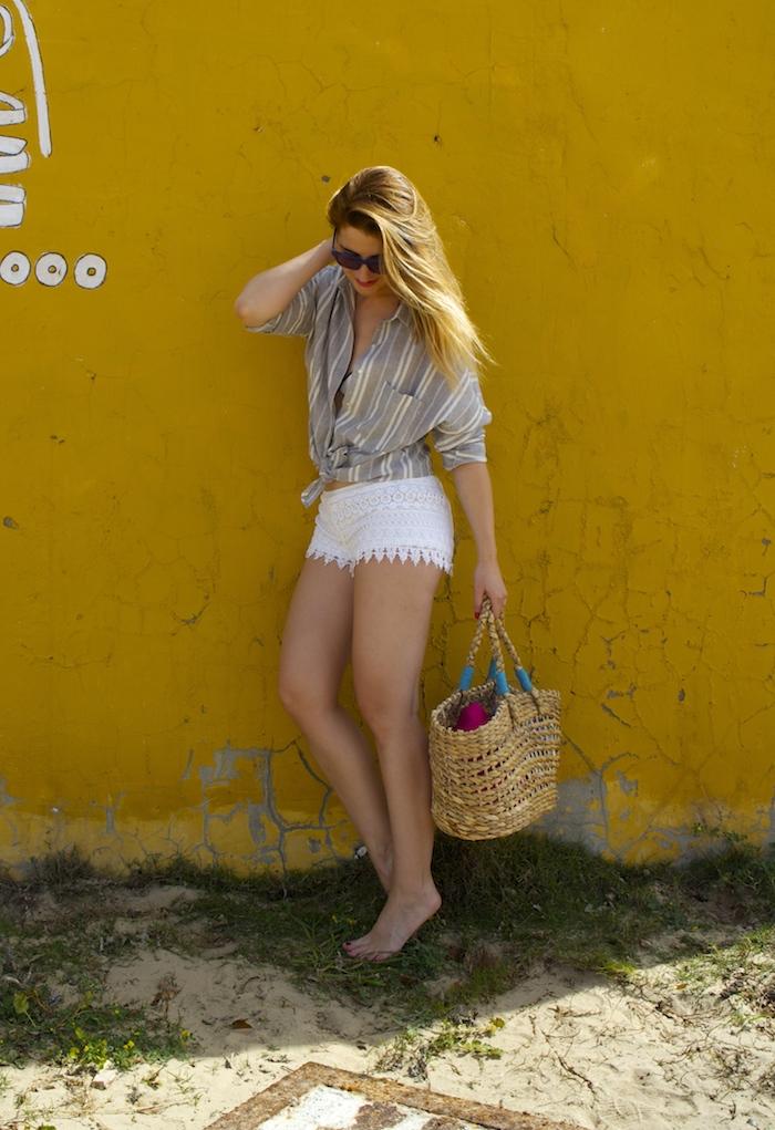 cadiz holidays crochet shorts Zara beach amaras la moda. 5