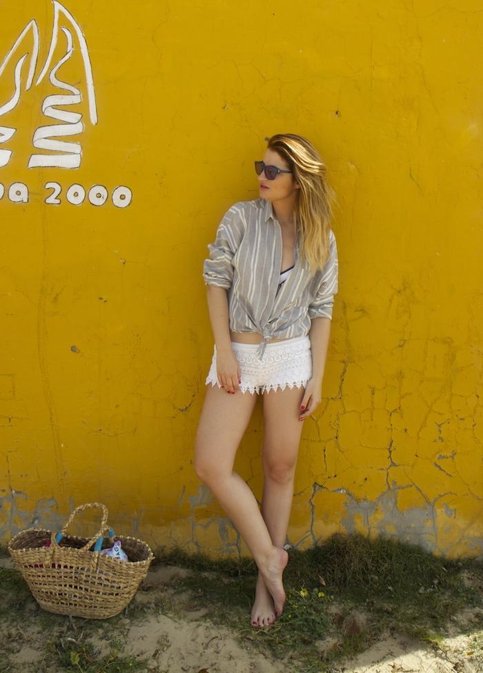 cadiz holidays crochet shorts Zara beach amaras la moda. 6