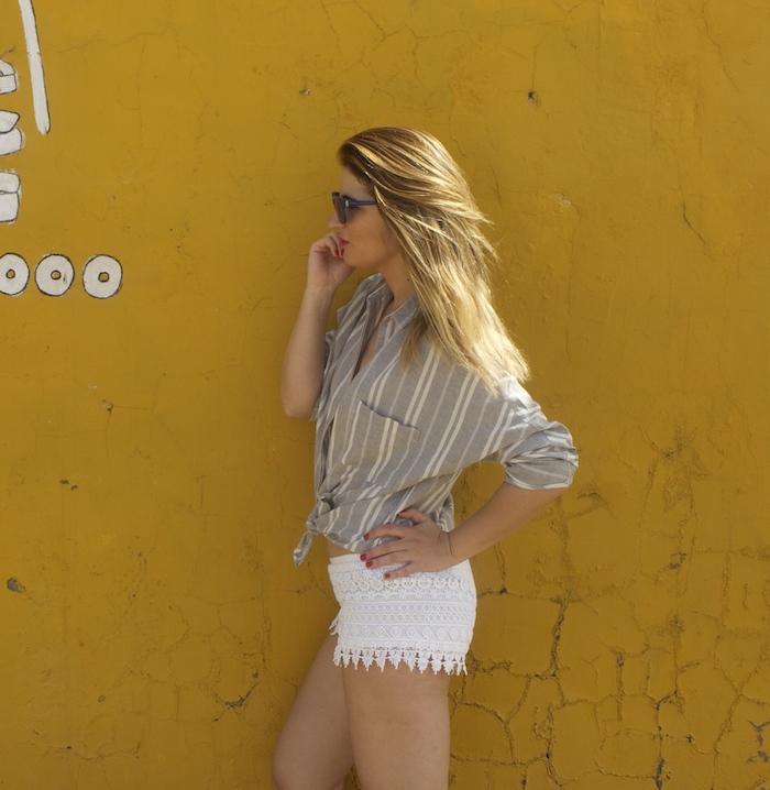 cadiz holidays crochet shorts Zara beach amaras la moda.