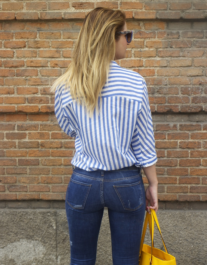 striped blouse michael kors bag chloe borel shoes 5