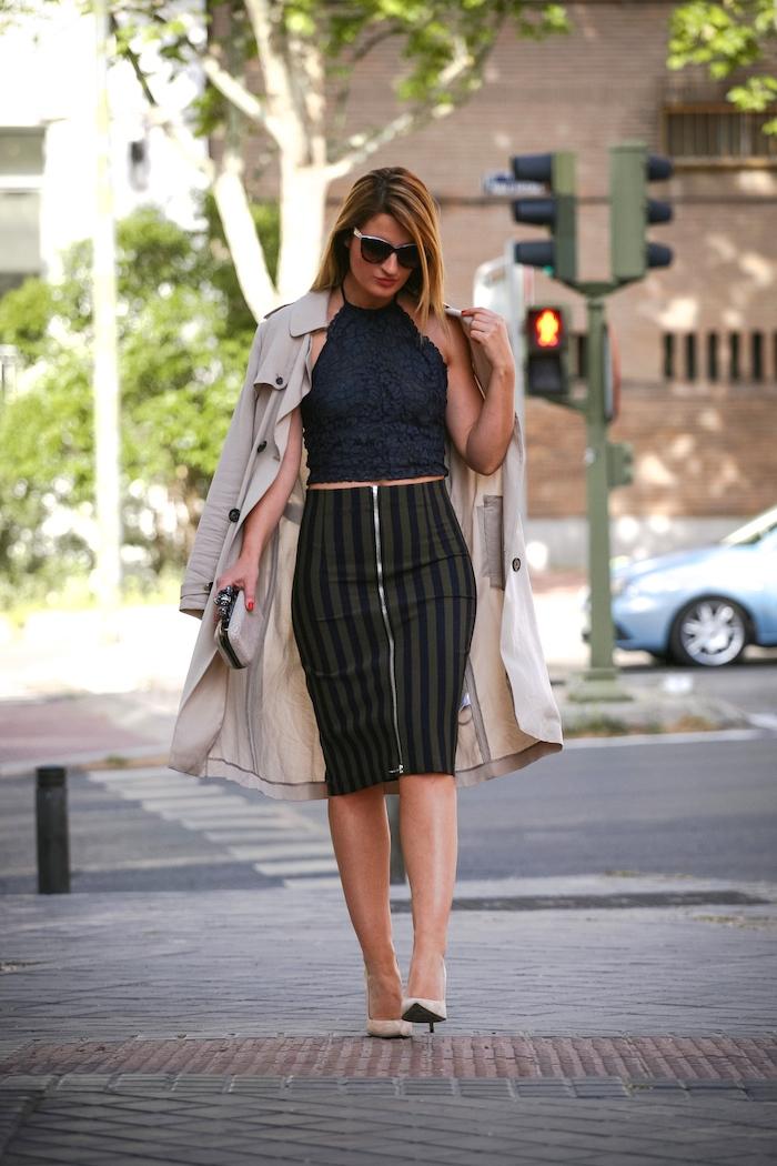 Stripped Skirt amaras la moda chloe borel shoes la redoutte trench 3