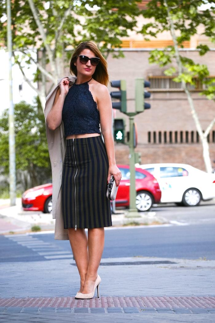 Stripped Skirt amaras la moda chloe borel shoes la redoutte trench 4
