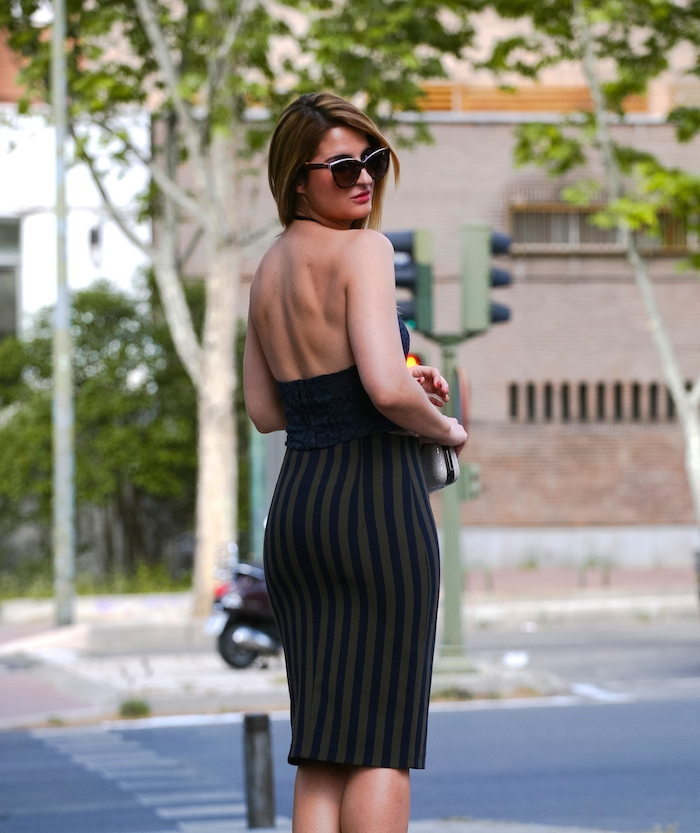 Stripped Skirt amaras la moda chloe borel shoes la redoutte trench 5