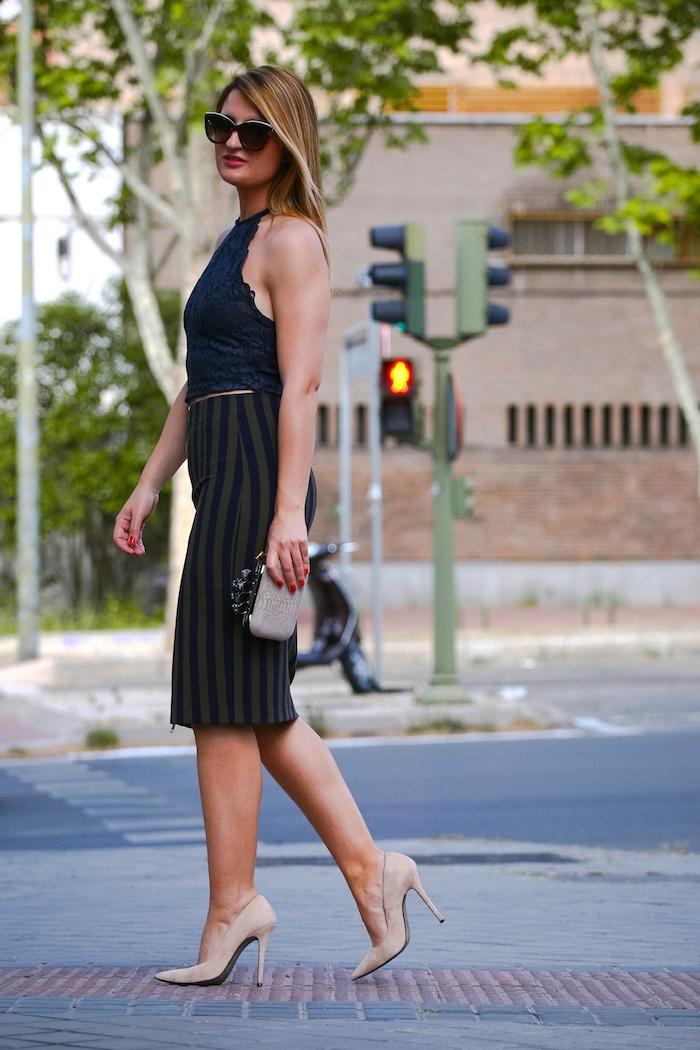 Stripped Skirt amaras la moda chloe borel shoes la redoutte trench 6