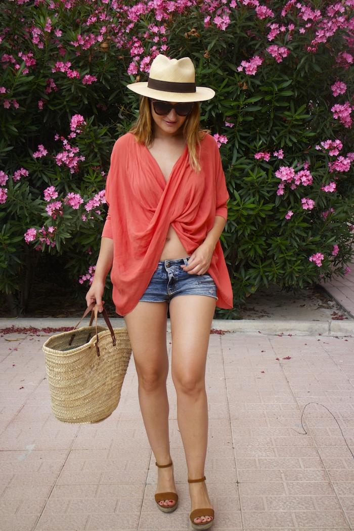 beach outfit amaras la moda  panama hat 6