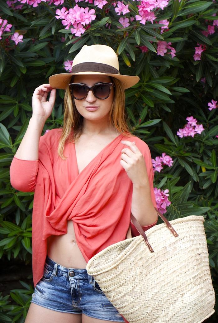 beach outfit amaras la moda  panama hat3
