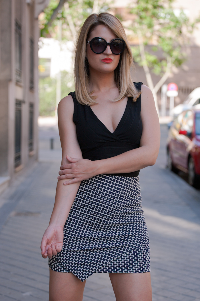 h&m skirt top amaras la moda liujo sunnies