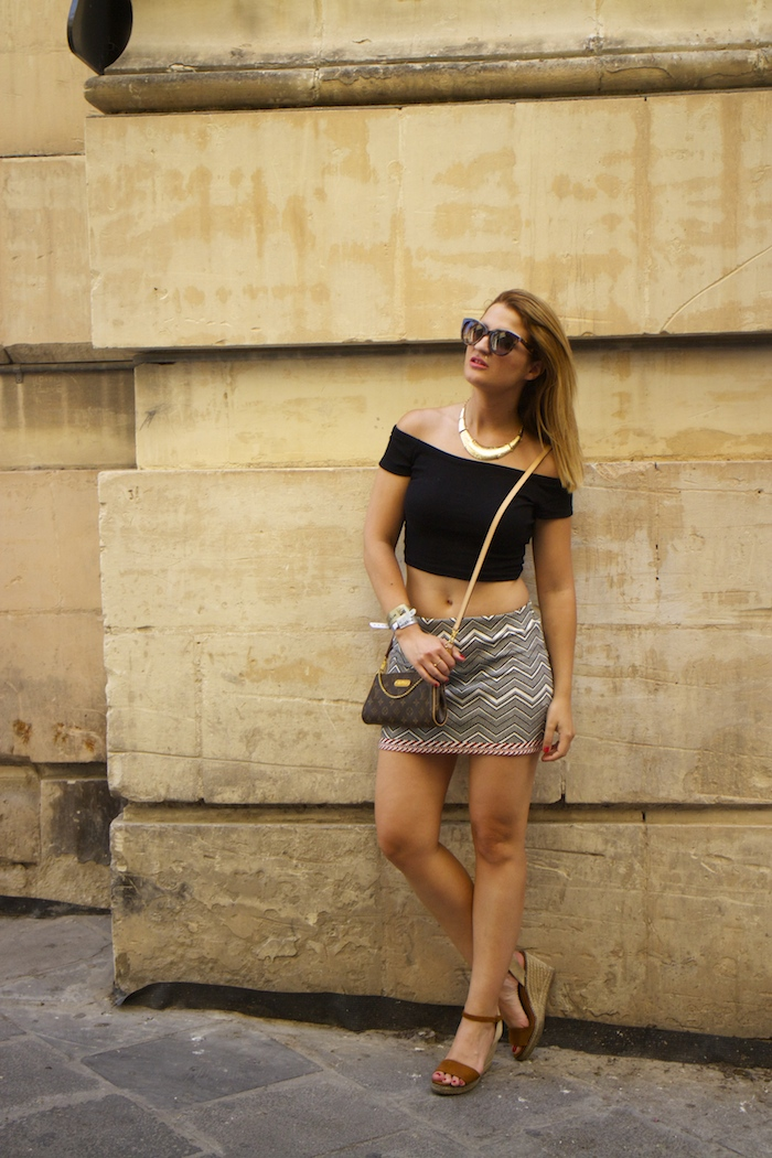 Tribal skirt louis vuitton bag amaras la moda oysho wedges MTV isleofMTV Malta 8