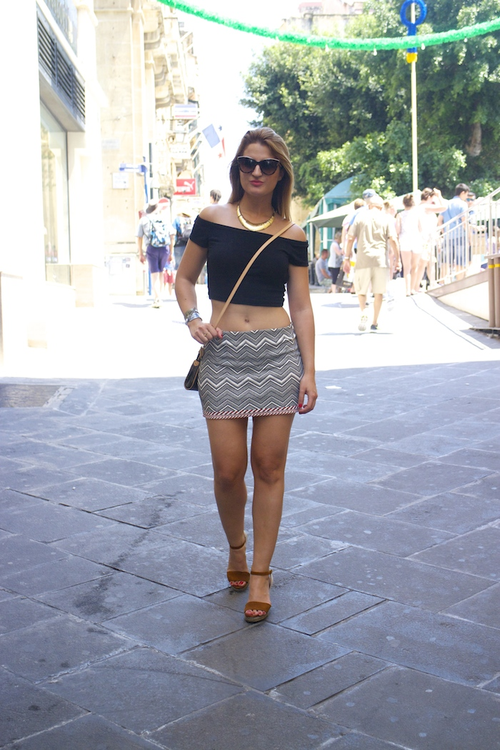 Tribal skirt louis vuitton bag amaras la moda oysho wedges MTV isleofMTV Malta5