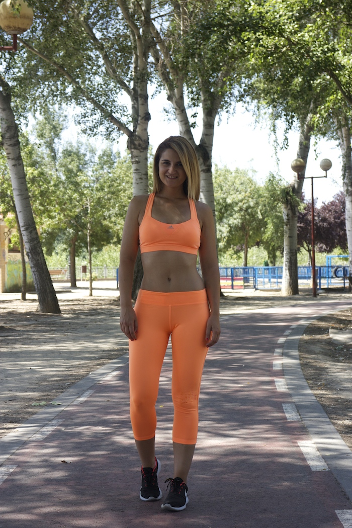 adidas running mallas top orange amaras la moda paula fraile 6
