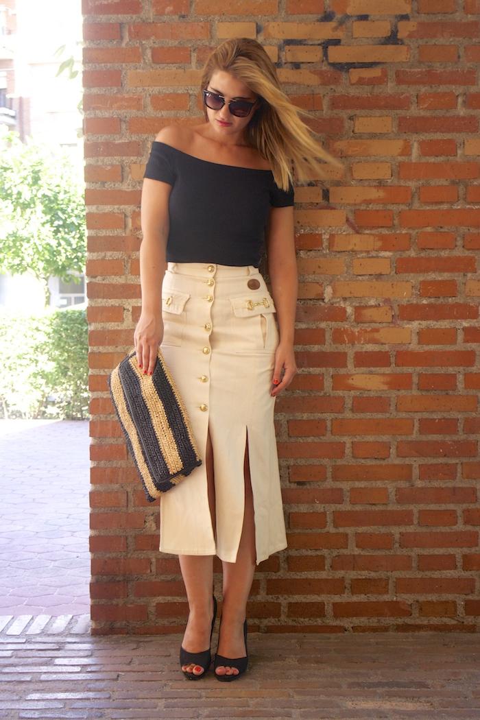 amaras la moda falda vintage castañer cuñas maje cuñas Paula Fraile Prada sunnies 2