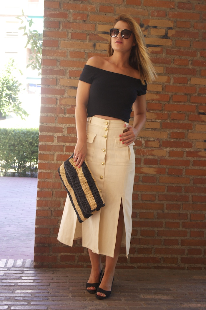 amaras la moda falda vintage castañer cuñas maje cuñas Paula Fraile Prada sunnies 4