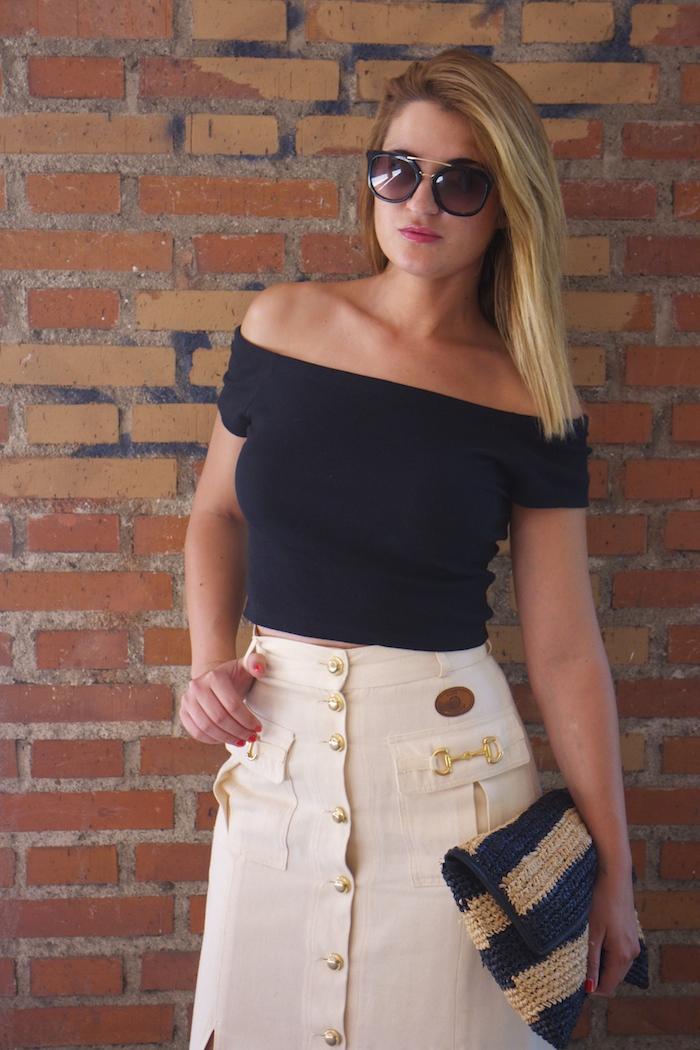 amaras la moda falda vintage castañer cuñas maje cuñas Paula Fraile Prada sunnies 5