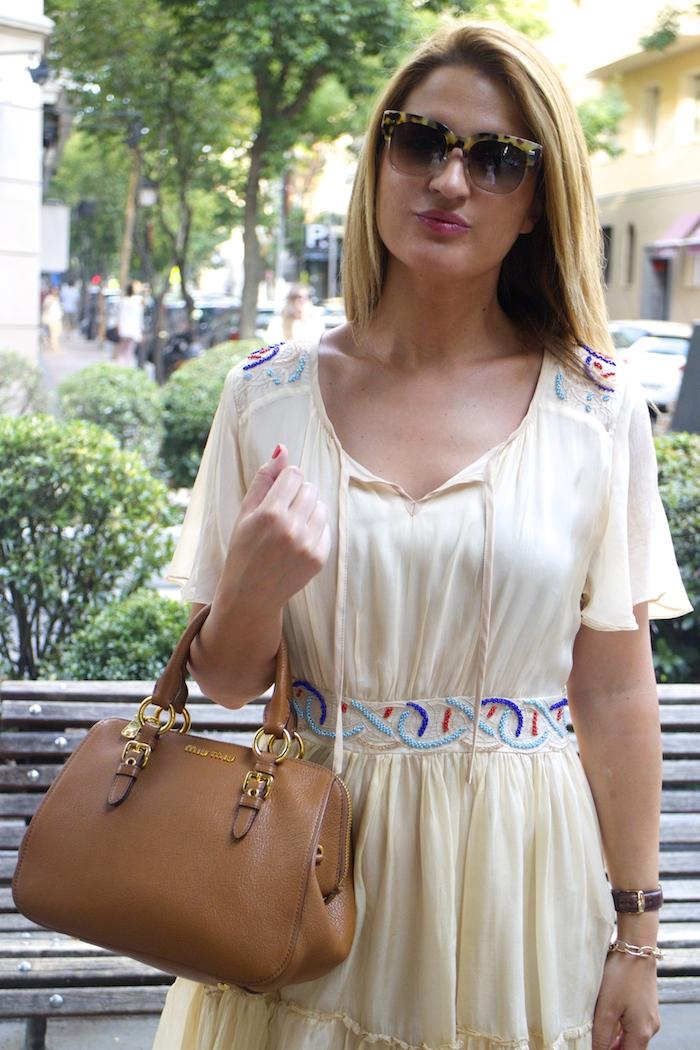 vestido bdba gucci sunnies Miu Miu bag Amaras la moda paula fraile