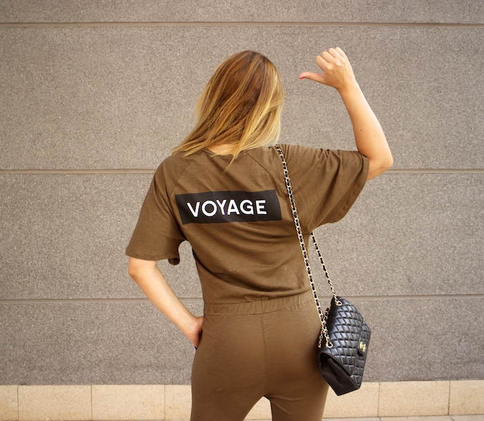 voyage jumpsuit amaras la moda chanel bag chloe borel stilettos Prada sunnies Optica Roma
