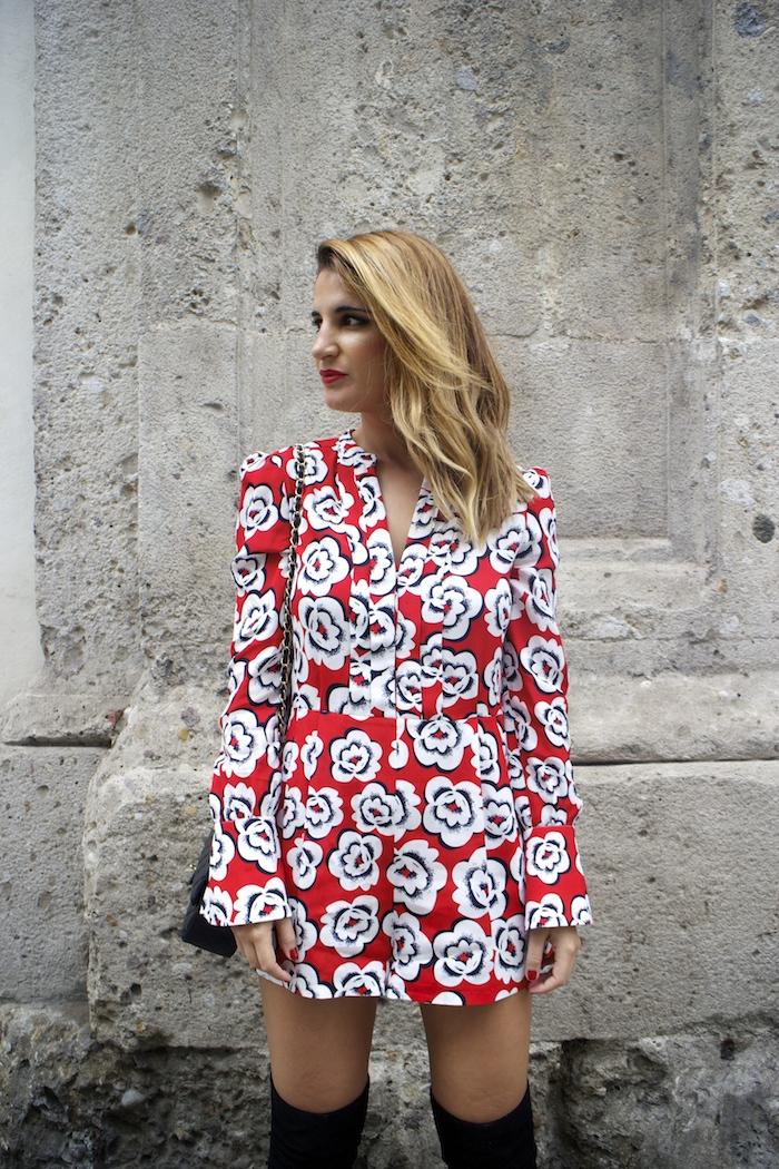 Tara Jarmon Madrid jumpsuit flowers Amarás la moda Paula Fraile 8